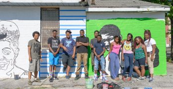 """<span class=""""entry-title-primary"""">Paint the Town</span> <span class=""""entry-subtitle"""">Art @ Work's young artists to beautify Upton.</span>"""