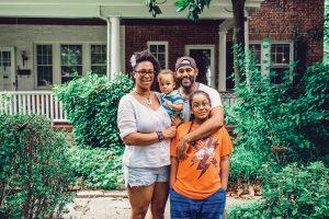 Rashida Simmons and Mar Braxton with their two sons, Kendi, 8, and Aman, 1.