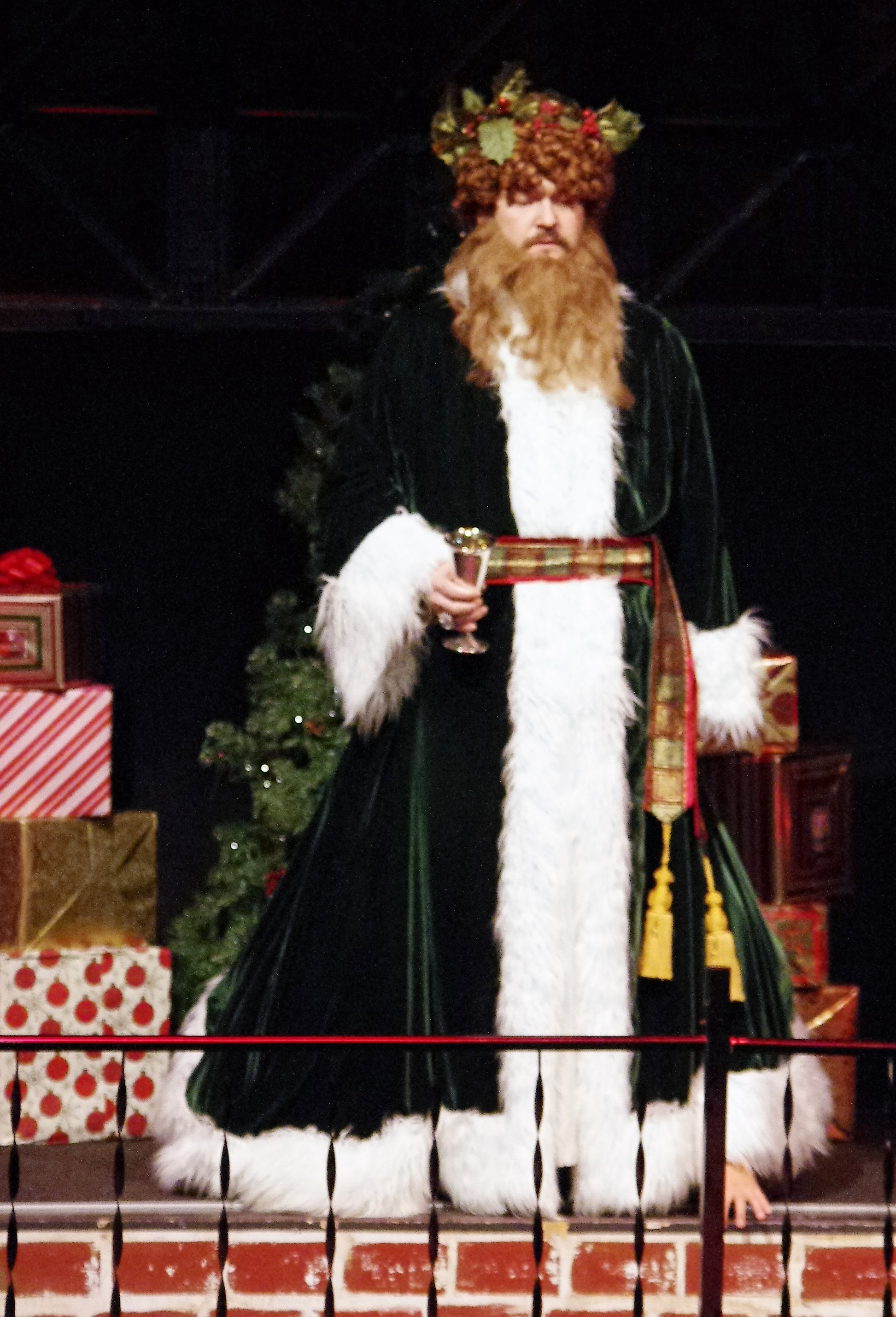 Ghost Of Christmas Present Costume.Chesapeake Shakespeare Company Presents A Christmas Carol A