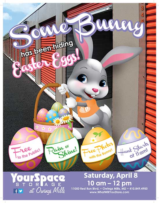Easter Egg Hunt At YourSpace Storage @ Owings Mills