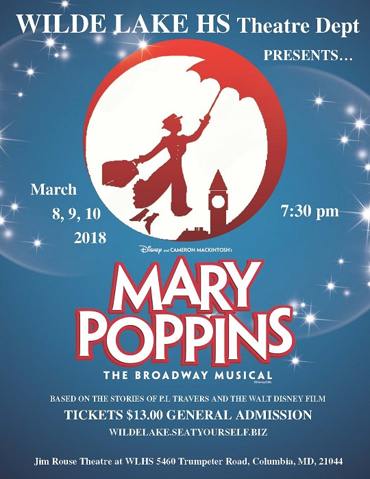 Wilde Lake HS Theatre Dept. presents Mary Poppins