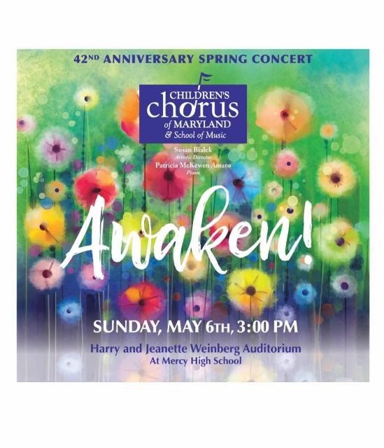 Awaken! Children's Chorus of Maryland Annual Spring Concert!