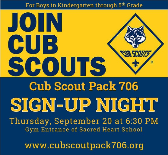 Cub Scout Pack 706 Sign-Up Night (Reisterstown/Glyndon)
