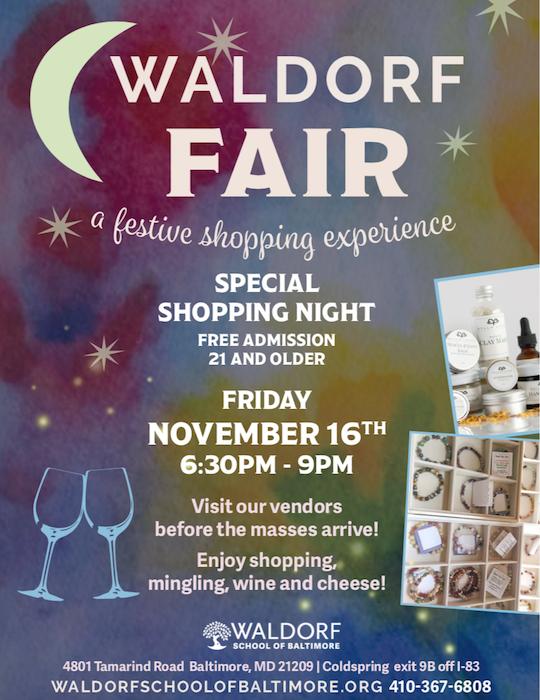 Waldorf Fair Preview Night