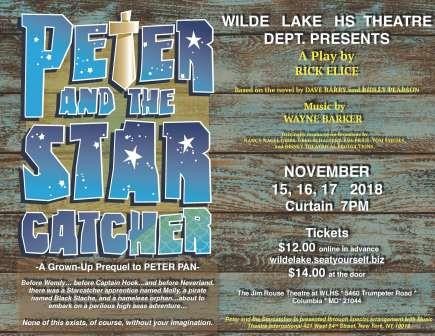 Wilde Lake HS Theatre Dept. present Peter and the Star Catcher