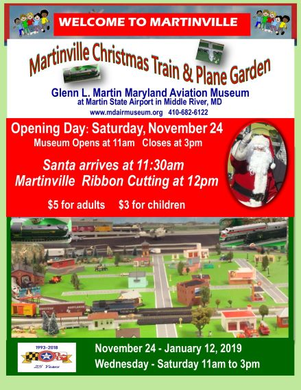 Martinville Train & Plane Christmas Garden