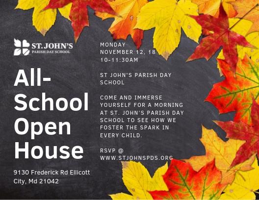 St. John's Parish Day School Open House