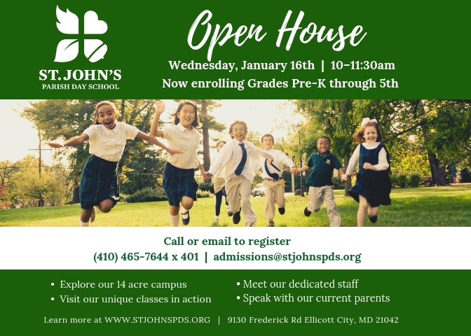 St. John's Parish Day School Open House