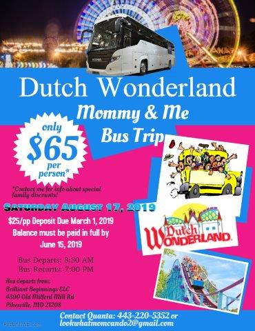 Dutch Wonderland Mommy & Me Bus Trip!