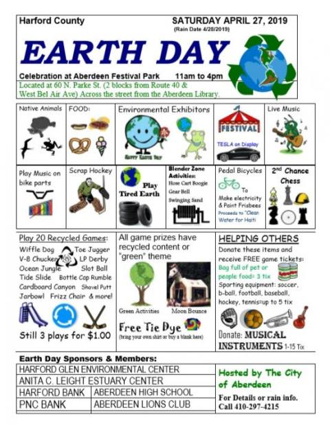 Earth Day 2019 Celebration at Aberdeen Festival Park