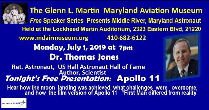 Maryland Astronaut Tom Jones Talks Moon Landing