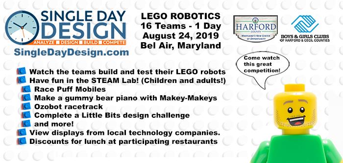 LEGO Robotics - Single Day Design Challenge