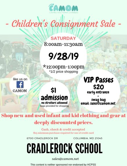 CAMOM Fall Consignment Sale