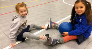 Beth Tfiloh Lower School students get their school day going with free play time