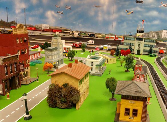 Christmas Train and Plane Garden Martinville