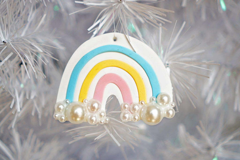 How to Make Clay Rainbow Ornaments